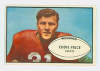 1953 Bowman Football 16 Eddie Price New York Giants Excellent to Excellent Plus