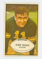 1953 Bowman Football 18 Elbert Nickel Pittsburgh Steelers Excellent to Excellent Plus