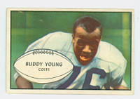 1953 Bowman Football 30 Buddy Young Baltimore Colts Excellent to Excellent Plus