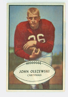 1953 Bowman Football 45 John Olszewski Single Print St. Louis Cardinals Excellent to Excellent Plus