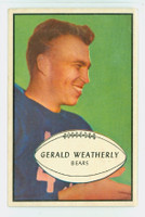 1953 Bowman Football 48 Gerald Weatherly Chicago Bears Excellent