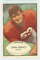 1953 Bowman Football 57 John Rapacz Single Print New York Giants Good to Very Good