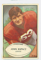 1953 Bowman Football 57 John Rapacz Single Print New York Giants Very Good