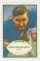 1953 Bowman Football 75 John Kreamcheck Single Print Chicago Bears Excellent to Excellent Plus