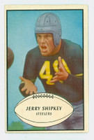 1953 Bowman Football 82 Jerry Shipkey Pittsburgh Steelers Excellent