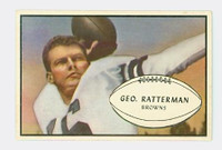 1953 Bowman Football 85 George Ratterman Cleveland Browns Excellent