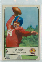 1954 Bowman Football 7 Kyle Rote New York Giants Excellent to Mint