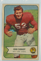 1954 Bowman Football 19 John Cannady New York Giants Excellent to Mint