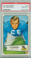 1954 Bowman Football 29 Les Bingaman ROOKIE Detroit Lions PSA 8 Near Mint to Mint