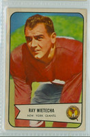 1954 Bowman Football 31 Ray Wietecha New York Giants Very Good to Excellent