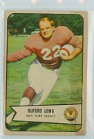 1954 Bowman Football 43 Buford Long New York Giants Very Good