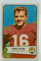 1954 Bowman Football 55 Frank Gifford New York Giants Very Good