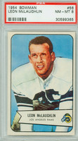 1954 Bowman Football 56 Leon McLaughlin Los Angeles Rams PSA 8 Near Mint to Mint