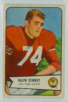 1954 Bowman Football 67 Ralph Starkey New York Giants Excellent
