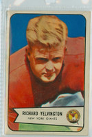 1954 Bowman Football 77 Richard Yelvington New York Giants Excellent to Mint