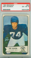 1954 Bowman Football 82 Ken Jackson Baltimore Colts PSA 6 Excellent to Mint