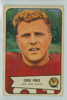 1954 Bowman Football 86 Edward Price New York Giants Excellent