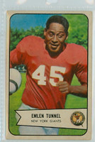 1954 Bowman Football 102 Emlen Tunnell New York Giants Very Good