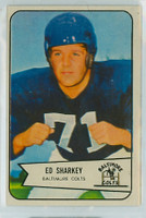 1954 Bowman Football 109 Ed Sharkey Baltimore Colts Excellent