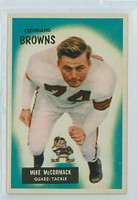 1955 Bowman Football 2 Mike McCormack ROOKIE Cleveland Browns Excellent to Mint