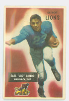 1955 Bowman Football 15 Jug Girard Detroit Lions Very Good