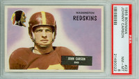 1955 Bowman Football 22 Johnny Carson Washington Redskins PSA 8 Near Mint to Mint