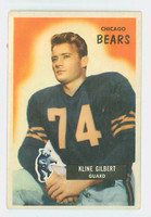 1955 Bowman Football 49 Kline Gilbert Chicago Bears Very Good