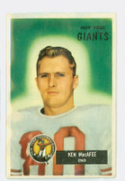 1955 Bowman Football 60 Ken MacAfee ROOKIE New York Giants Very Good to Excellent