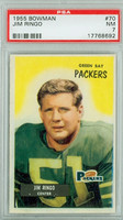 1955 Bowman Football 70 Jim Ringo ROOKIE Green Bay Packers PSA 7 Near Mint
