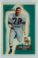 1955 Bowman Football 91 John Sandusky Cleveland Browns Excellent to Excellent Plus
