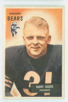 1955 Bowman Football 96 Harry Jagade Chicago Bears Very Good to Excellent