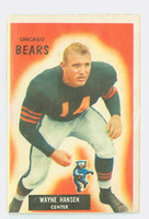 1955 Bowman Football 125 Wayne Hansen Chicago Bears Very Good
