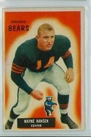 1955 Bowman Football 125 Wayne Hansen Chicago Bears Very Good to Excellent