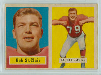 1957 Topps Football 18 Bob St. Clair San Francisco 49ers Very Good to Excellent