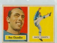 1957 Topps Football 23 Don Chandler ROOKIE New York Giants Very Good