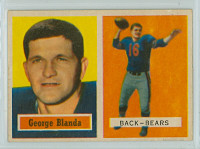 1957 Topps Football 31 George Blanda Chicago Bears Excellent to Mint