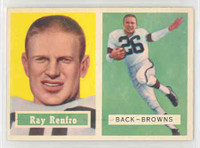 1957 Topps Football 76 Ray Renfro Cleveland Browns Near-Mint