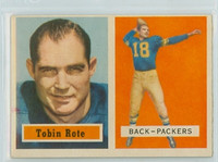 1957 Topps Football 81 Tobin Rote Green Bay Packers Excellent to Excellent Plus