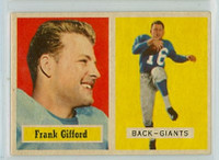 1957 Topps Football 88 Frank Gifford New York Giants Excellent