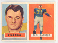 1957 Topps Football 107 Fred Cone Green Bay Packers Near-Mint