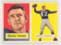 1957 Topps Football 109 Charlie Conerly High Number Single Print New York Giants Near-Mint