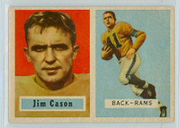 1957 Topps Football 143 Jim Cason Los Angeles Rams Excellent