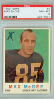 1959 Topps Football 4 Max McGee ROOKIE