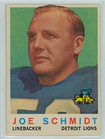 1959 Topps Football 6 Joe Schmidt Detroit Lions Very Good to Excellent