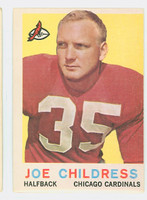 1959 Topps Football 13 Joe Childress Chicago Cardinals Good to Very Good