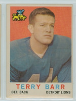 1959 Topps Football 14 Terry Barr Detroit Lions Very Good
