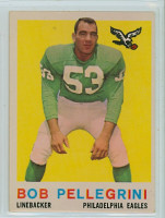 1959 Topps Football 16 Bob Pellegrini Philadelphia Eagles Very Good to Excellent
