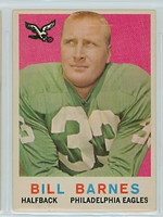 1959 Topps Football 25 Bill Barnes Philadelphia Eagles Very Good to Excellent