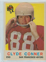 1959 Topps Football 27 Clyde Conner San Francisco 49ers Excellent