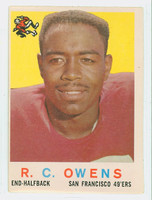 1959 Topps Football 33 RC Owens San Francisco 49ers Good to Very Good